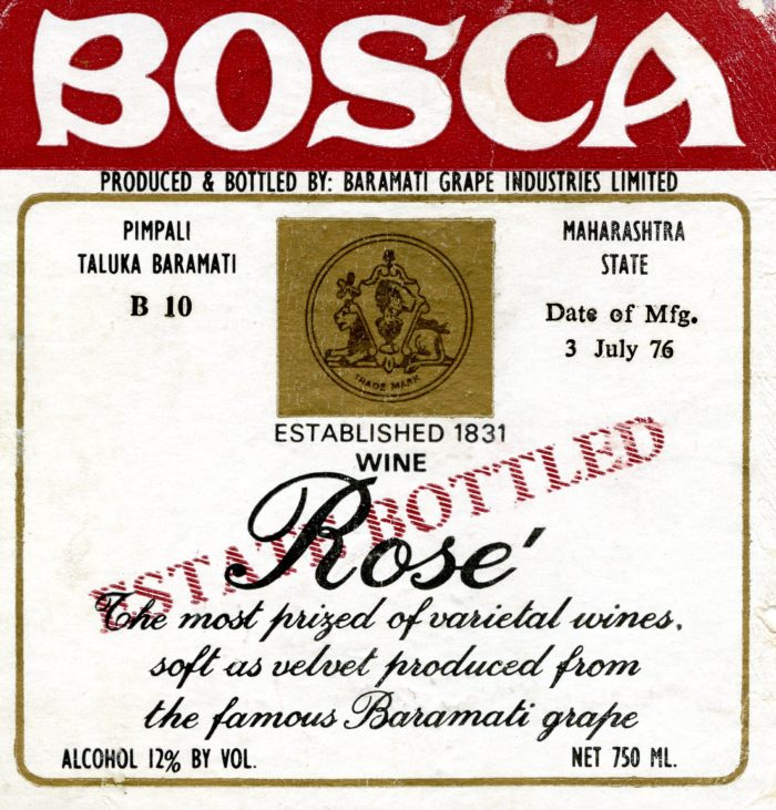 Rosè Baramati grape - 1976 - Baramati