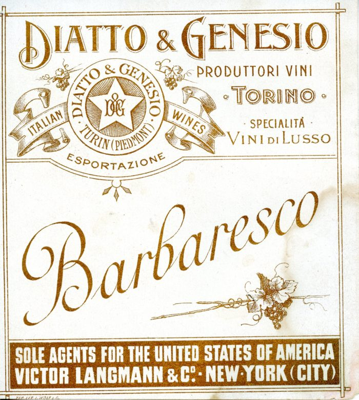 Barbaresco - antica - Diatto Genesio